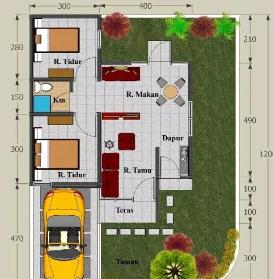 Gambar-Denah-Rumah-Type-45-Inspirasi-Tahun-2021